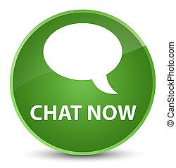 Chat now elegant soft green round button