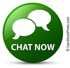 Chat now green round button