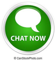Chat now premium green round button