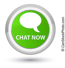 Chat now prime soft green round button