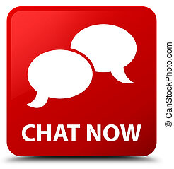 Chat now red square button