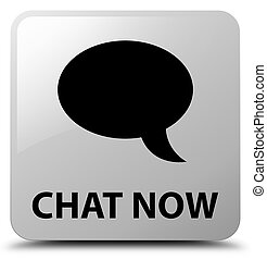 Chat now white square button