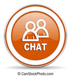 chat orange icon