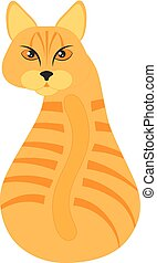 chat orange, tabby, illustration, séance