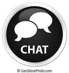 Chat premium black round button