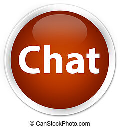 Chat premium brown round button