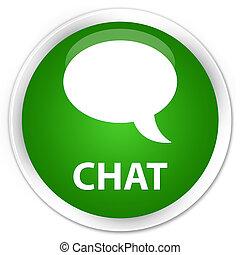 Chat premium green round button