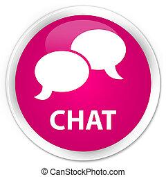 Chat premium pink round button
