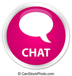 Chat premium pink round button