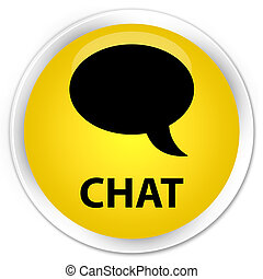 Chat premium yellow round button