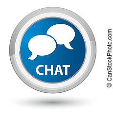 Chat prime blue round button