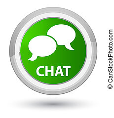 Chat prime green round button