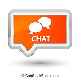 Chat prime orange banner button