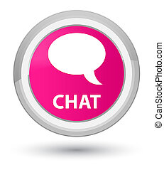 Chat prime pink round button