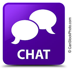 Chat purple square button