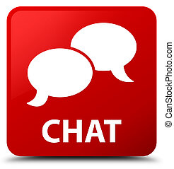 Chat red square button