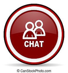 chat round glossy icon, modern design web element