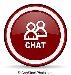 chat round glossy icon, modern design web element