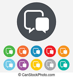 Chat sign icon. Speech bubble symbol.
