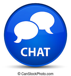 Chat special blue round button