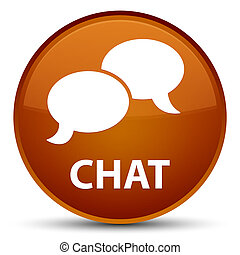 Chat special brown round button