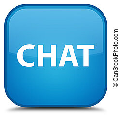 Chat special cyan blue square button