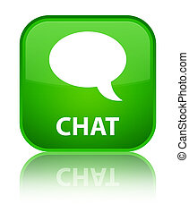 Chat special green square button