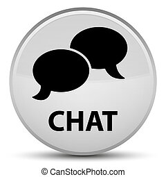 Chat special white round button