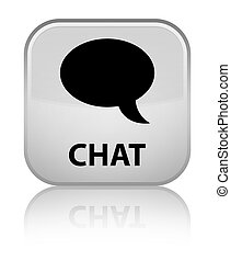 Chat special white square button