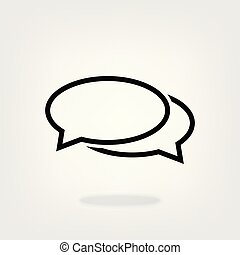 Chat, speech, bubble, dialogue vector icon for graphic design, logo, web site, social media, mobile app, ui illustration