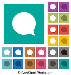Chat square flat multi colored icons