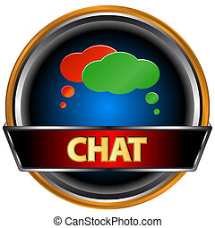 Best chat symbol on a white background