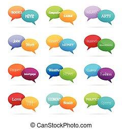 Chat Topic Talk Bubbles