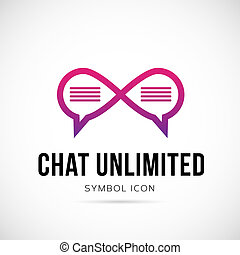 Chat Unlimited Vector Concept Symbol Icon or Logo Template