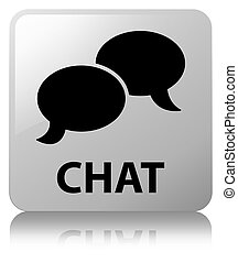 Chat white square button