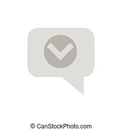 Chat with tick icon