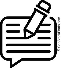 Chat writing icon, outline style
