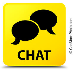 Chat yellow square button