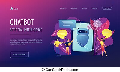 chatbot, aiconcept, page., aterrizaje