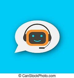 chatbot, concept, icône