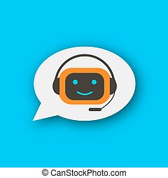 Chatbot concept chat bot vector icon customer support