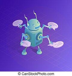 Chatbot concept. Online assistant.