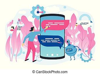 chatbot, concepto, tecnología