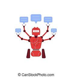 Chatbot Flat Concept