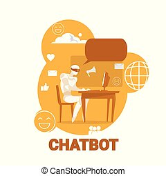 Chatbot Icon Chatter Bot Robot Support Modern Technology Concept
