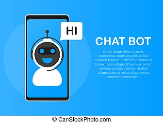 Chatbot icon concept, chat bot or chatterbot. Robot Virtual Assistance Of Website Or Mobile Applications.
