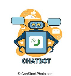 Chatbot Icon Concept Support Robot Technology Digital Chat...