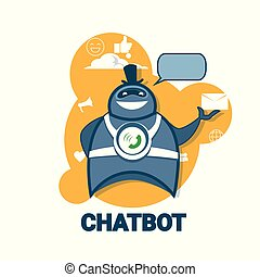 Chatbot Icon Concept Support Robot Technology Digital Chat Bot Application