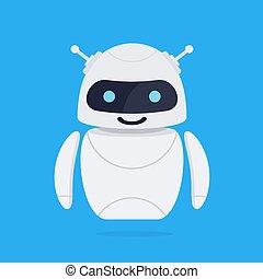 Chatbot robot concept.