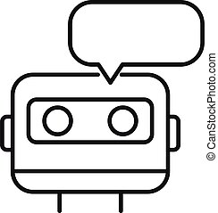 Chatbot icon, outline style
